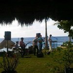 Live band on the water for our Christmas day celebration!  So much fun.