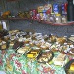 O buffet farto do café da manhã