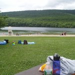 State Park beach for swimming with lifeguard