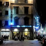 Hotel Lorena at night - in the heart of Florence.