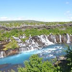 Hraunfossar, suggested by Pink Iceland as we would have never routed our guests in that directio