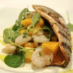 Ruby trout with smoked Maine Bay scallop & watercress