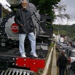 Meu pai em cima da Locomotiva