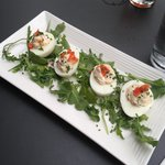 Sockeye Salmon Deviled Eggs