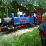 Luke watches the 'choo choo'