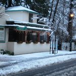 This is Murphys Grill in Murphys, CA in the snow