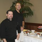 Chef, Tom on left. Bret, co-owner on right at reception