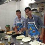 Cooking in Ristorante Cin Cin's kitchen