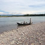 Driftboat on the Flathead River