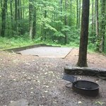 One of the group camping sites