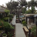 Interior pool area & gardens