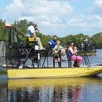 Part of our group  on the airboat