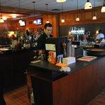 Highlanders Bar-featuring a wrap-around slate-top bar, outdoor patio, billiards & scenic views