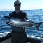 Steve With An 18 lb Chinook - The First of Day 1