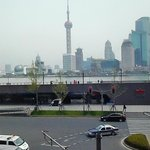 View of the Bund from breakfast loune