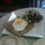 savory spinach and egg crepe