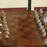 Chess game available in living room.