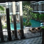 From foyer to public pool area.