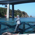 Fishing and crabbing off deck