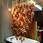 Honey jars and a bathtub -- strange art!