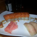 Titanic Roll and Yellowtail sushi...yuuuum!