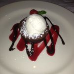 Molten Lava Cake was an excellent ending to a superb dinner