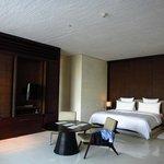 The villa's comfy big bed...