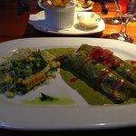 Crepas con Mariscos (enchiladas with seafood)
