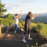 Shooting clays after dinner