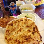 Roti bread, Chicken Curry and soup