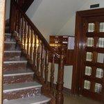 лестница ведущая в хостел