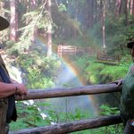 Sol Duc Falls and the Rainbow