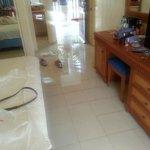 Floor wet from Toilet water