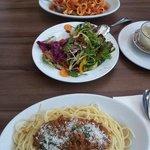 Nice pasta and salad
