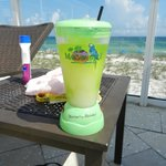 One of the drinks from the Tiki Bar at the pool.