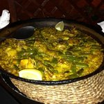 paella with chicken and rabbit.