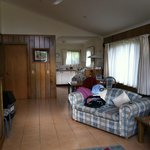"""""""Ike's"""" cottage - lounge/dining with kitchen in background - nice and spacious"""