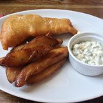 Beer battered Cod and Chips