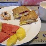 homemade breakfast from Vivi! Yum!
