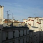 Parisian Rooftops- view from window.
