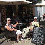 Two happy customers enjoying the sun!