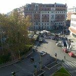 Veduta di Piazza Bologna da uno dei balconi dell' Hotel