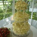 White Chocolate Wedding Cake - 15th June 2013