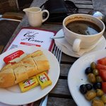 Very nice coffee. The bread and jam comes with the Turkish breakfast