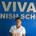 """Feliz Cumpleanos"" to Raquel, one of our excellent teachers"