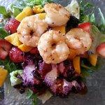 tropical shrimp salad plate