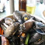 this pot of mussels won on my quest to find the best!