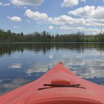 view of Loon Lake from a kayak
