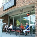 Canwest Art- Gallery on the Lake-  buy some Art, or relax on their patio with some coffee & good
