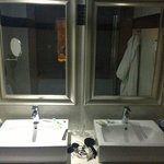 Bathroom - Both had our own mirrors and robes!